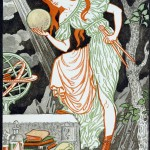 Eugene Grasset Art Nouveau Print Woman Science