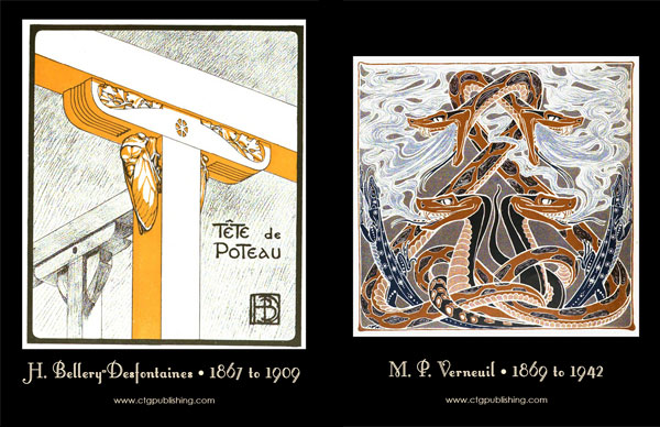 Art Nouveau Decorative Animal Designs