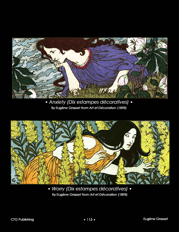 Eugene Grasset Les Dix Estampes -- Worry Anxiety