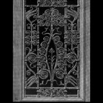 Eugene Grasset Wrought Iron Door Gate  Design