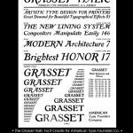 Eugene Grasset Font Design