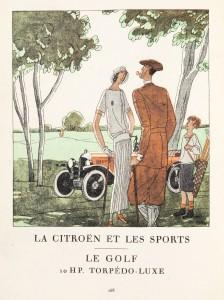 GOLF -- Citroën Art Deco Sports Poster Series