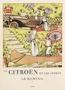 ROWING -- Citroën Art Deco Sports Poster Series