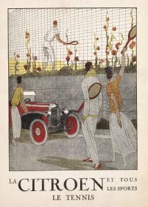 TENNIS -- Citroën Art Deco Sports Poster Series