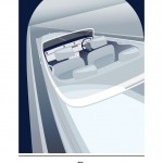 Rolls-Royce Art Deco Blue Illustration