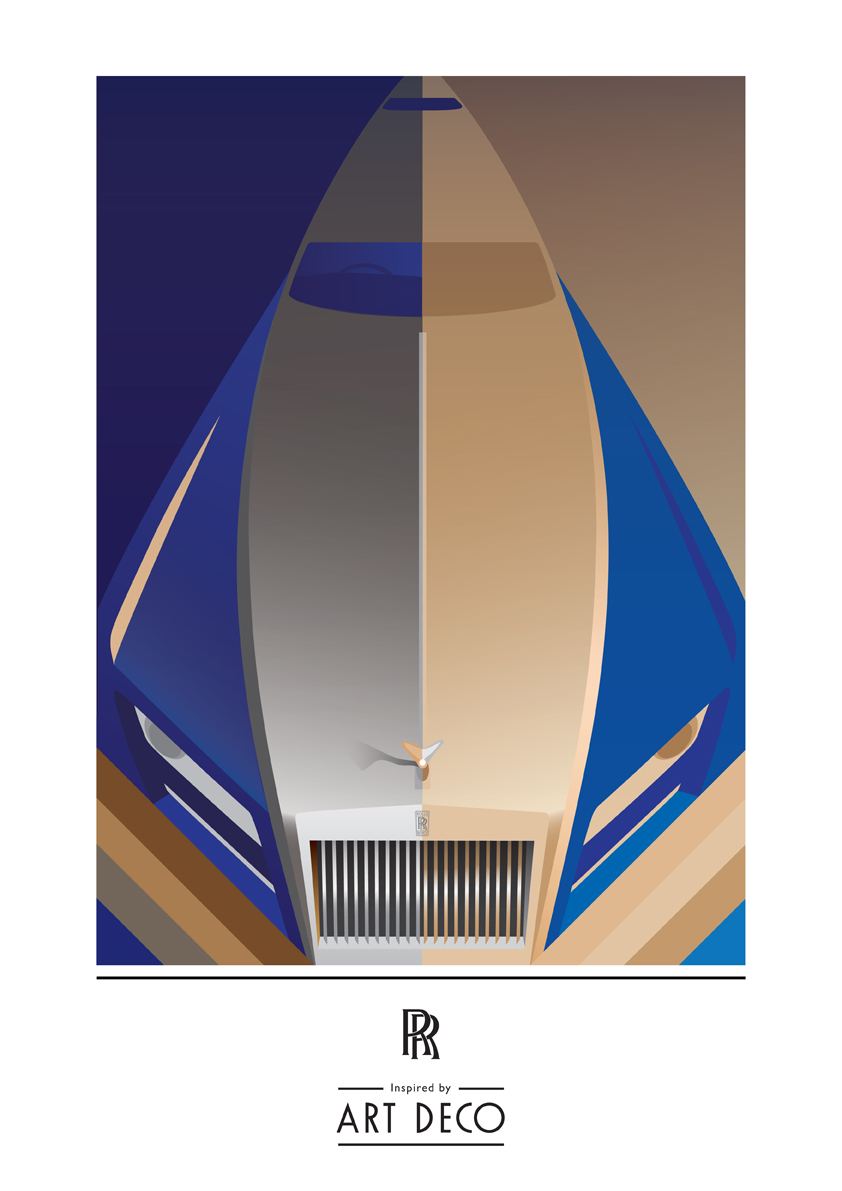 Rolls royce art deco color illustration for Art deco colours