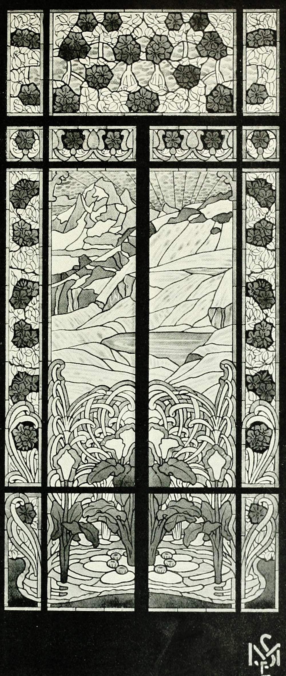 Art nouveau bathroom window design by e m simas for Art nouveau bathroom design