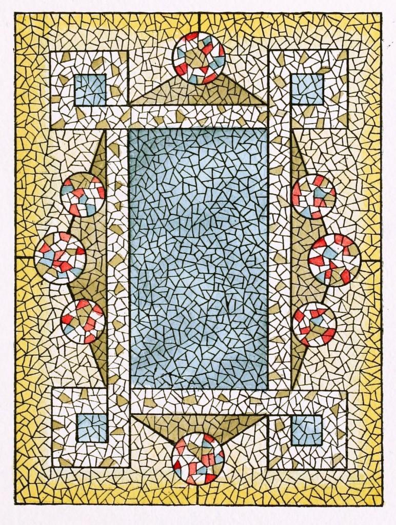 American Mosaic Glass Art of 1880 - Belcher Mosaic Glass Co. 1886