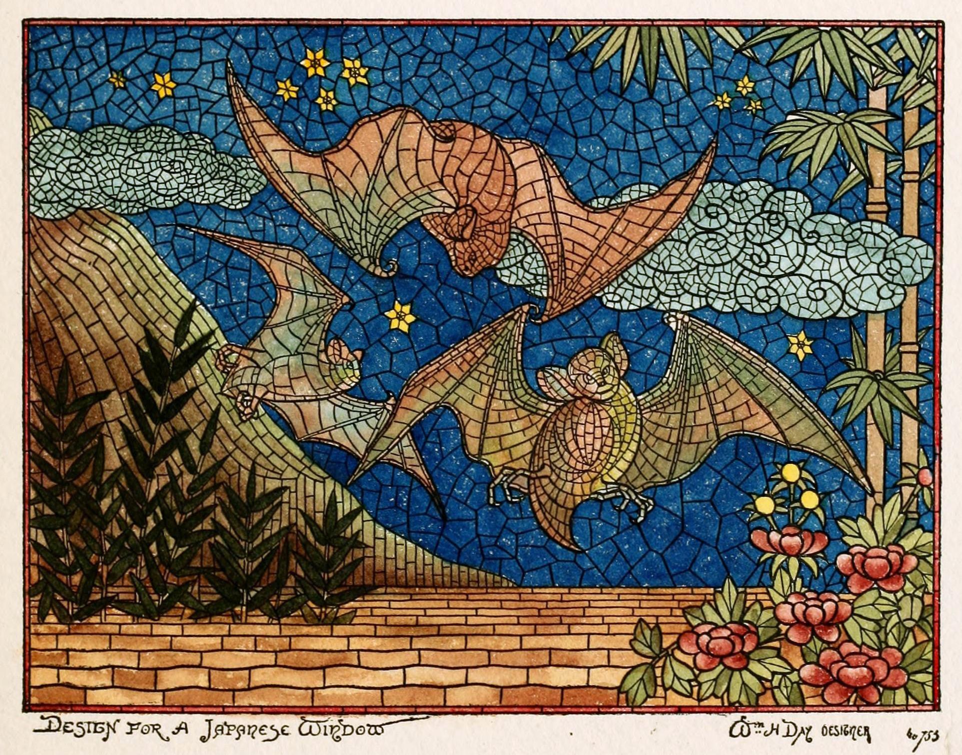 Mosaic glass art japanese window design belcher mosaic for Japanese window design