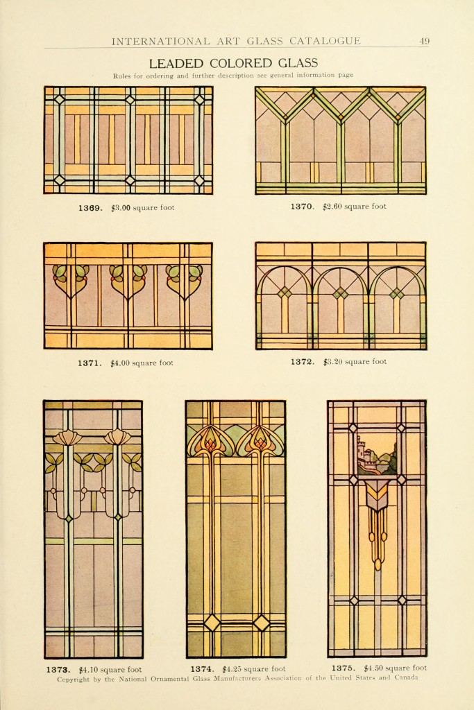 Stained glass window art of 1910 for Window manufacturers