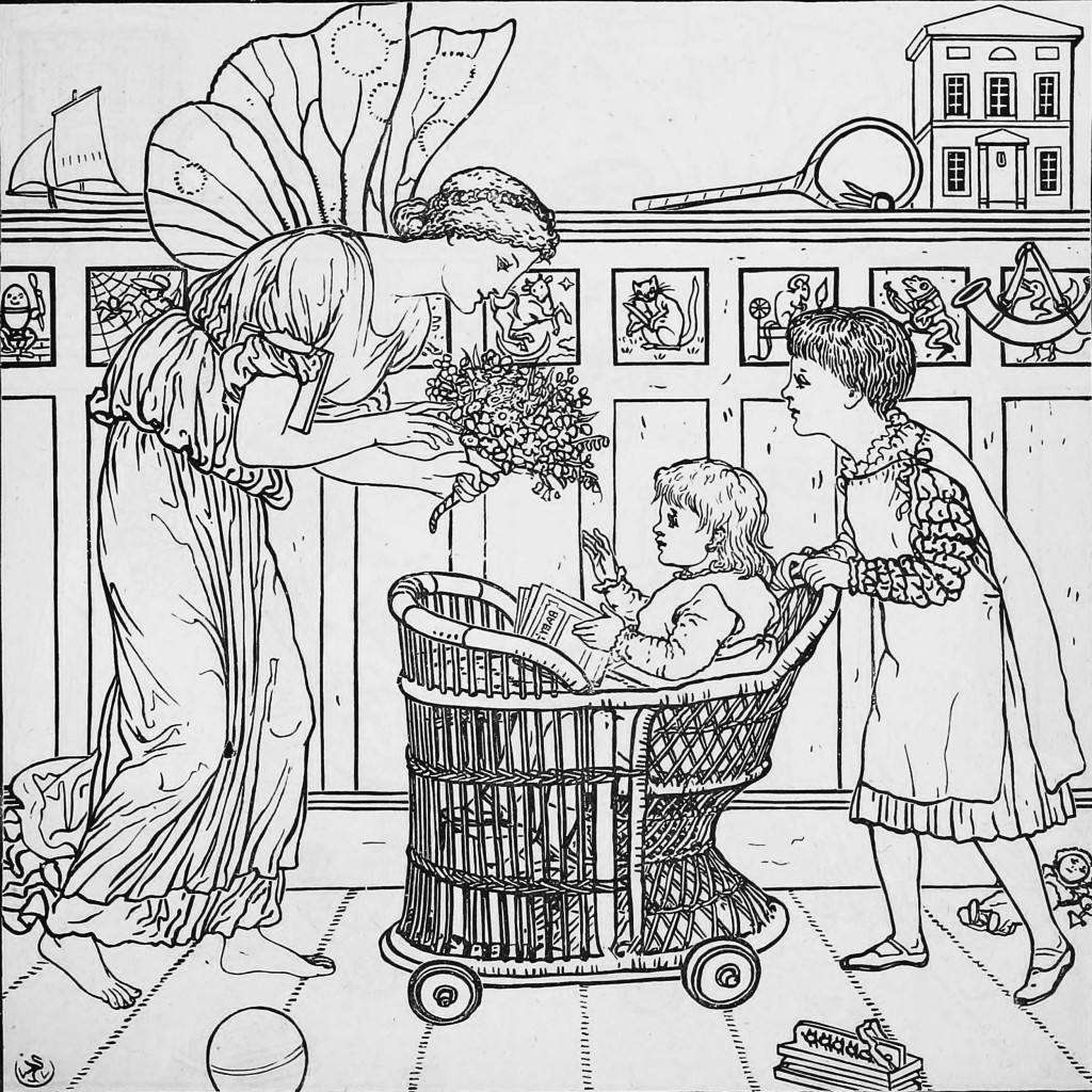 Book color line ferry - Ferry With Child Outlined Illustration By Walter Crane