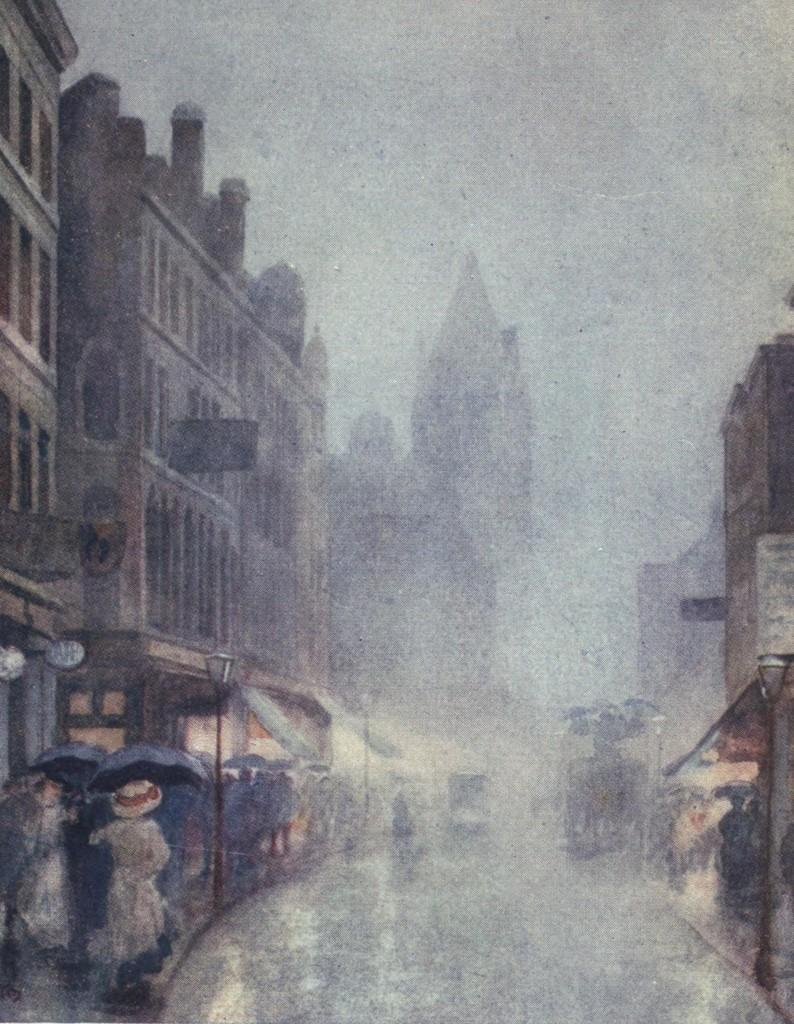 Fulham Road London by Yoshio Markino circa 1910