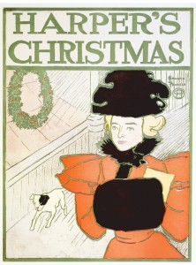 Harper's Magazine Christmas 1896 by Edward Penfield