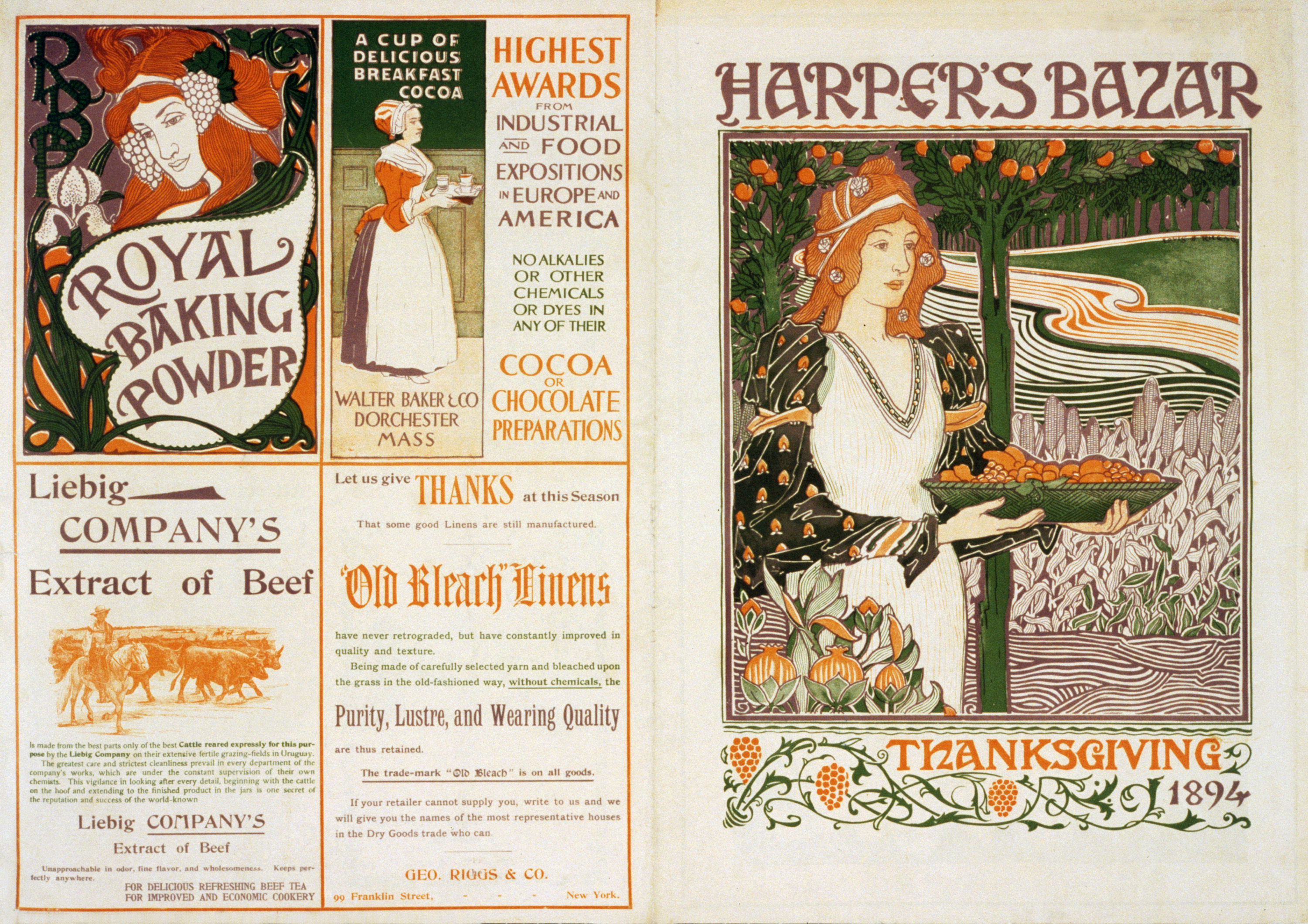 Harper's Magazine Cover Thanksgiving 1894 by Louis Rhead
