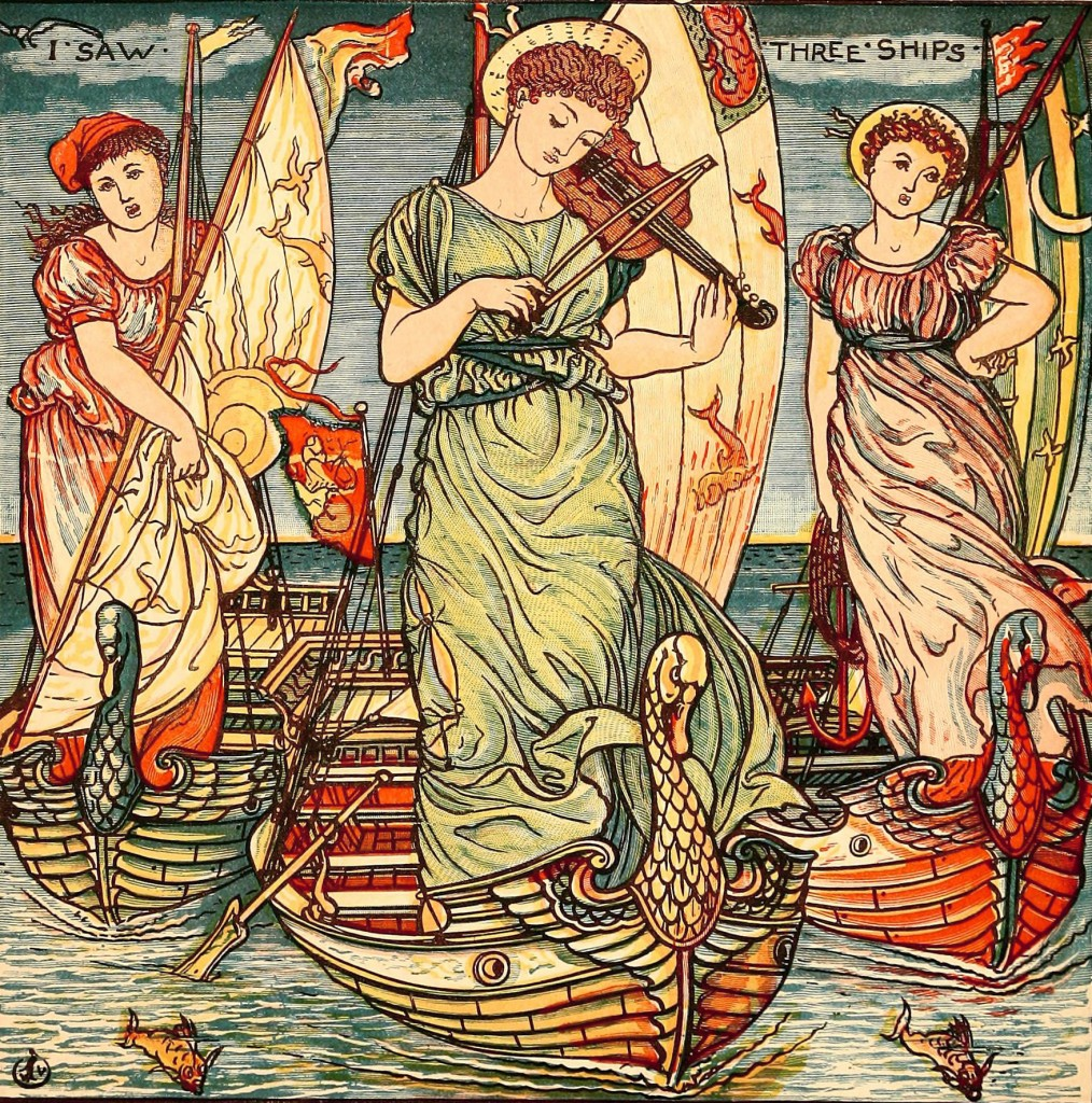 Walter Crane, Art Nouveau Illustrations in Color and Outlined for Coloring