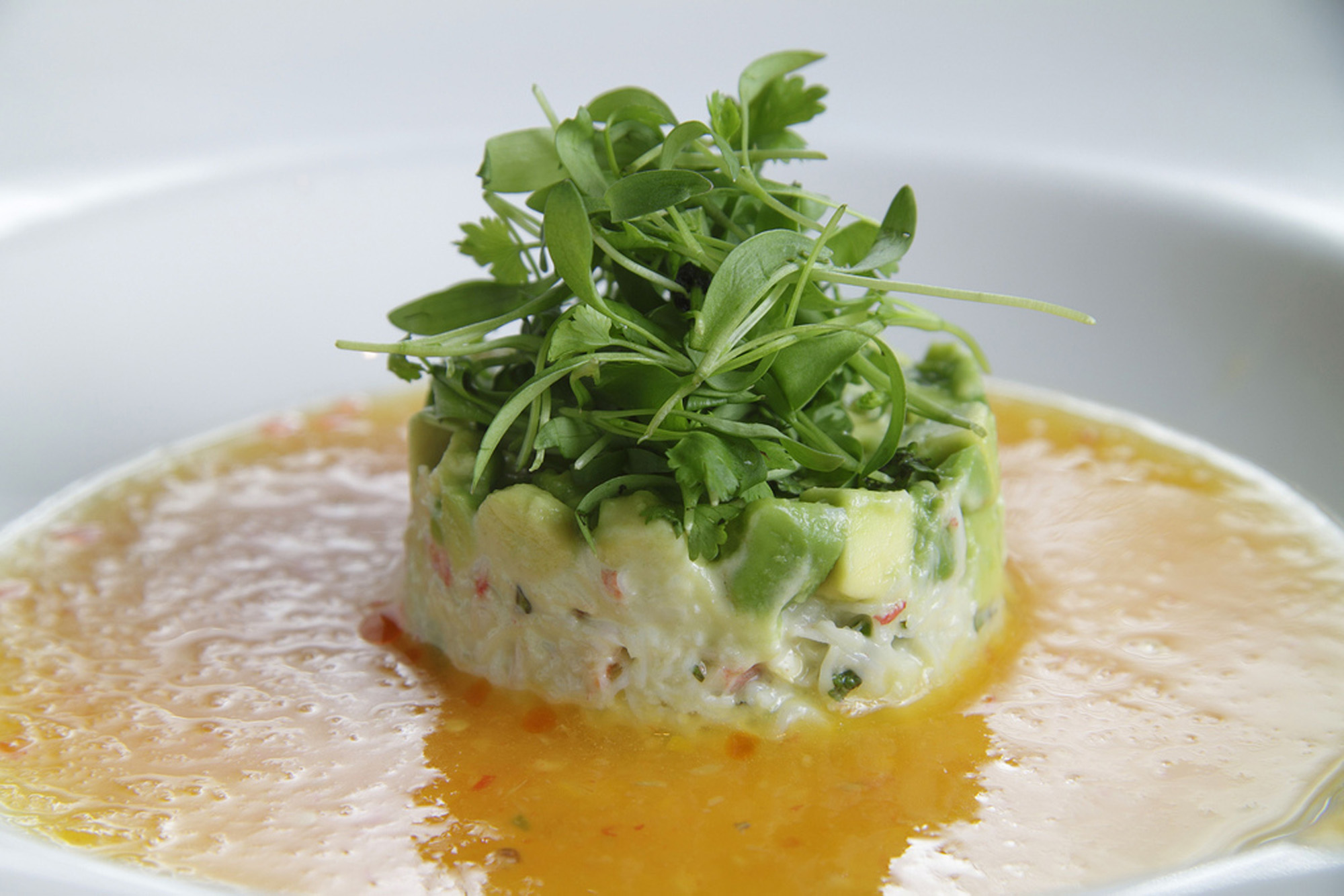 Image California Avocado King Crab Salad in Soup via http://www ...