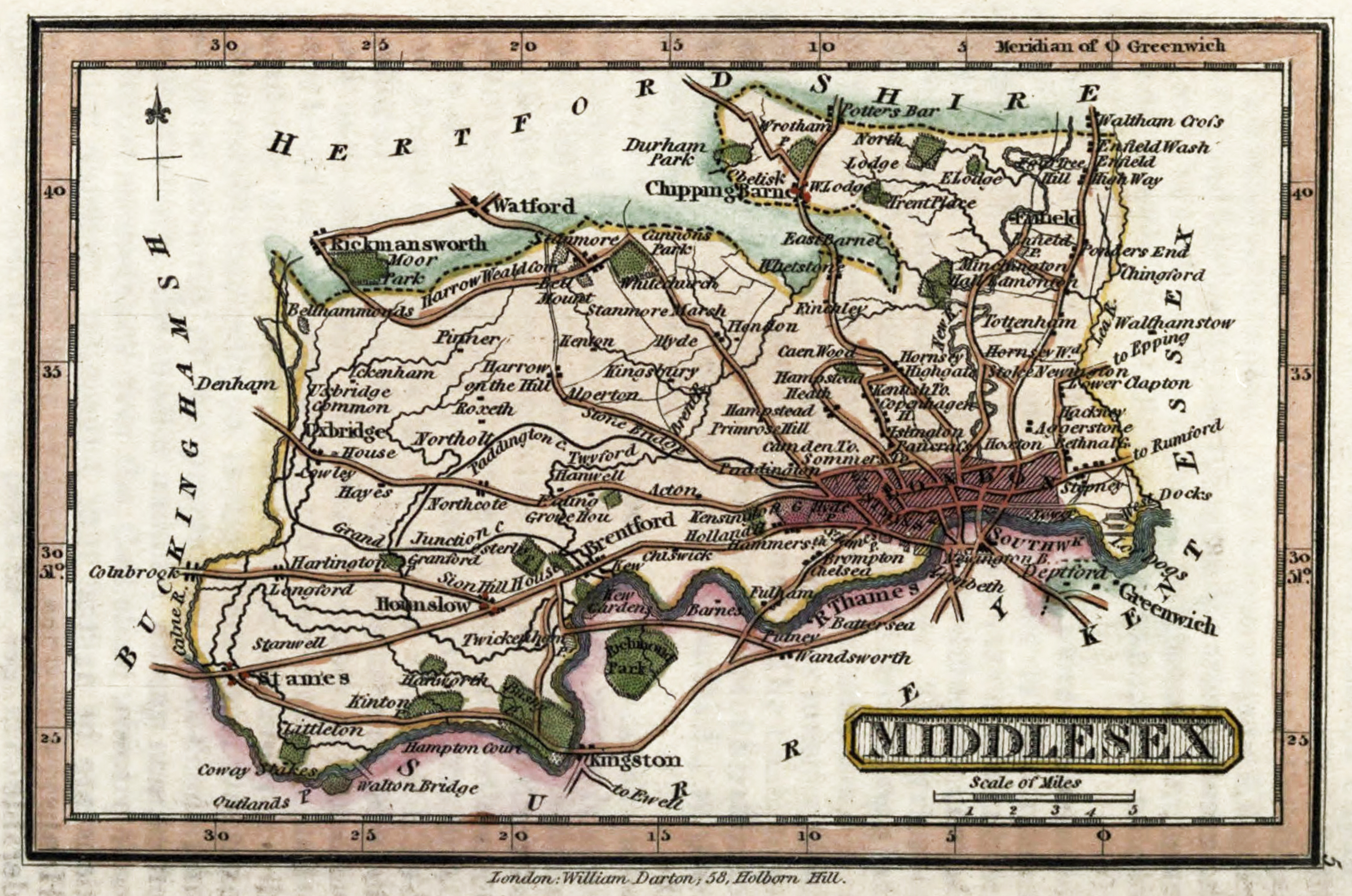 middlesex london map