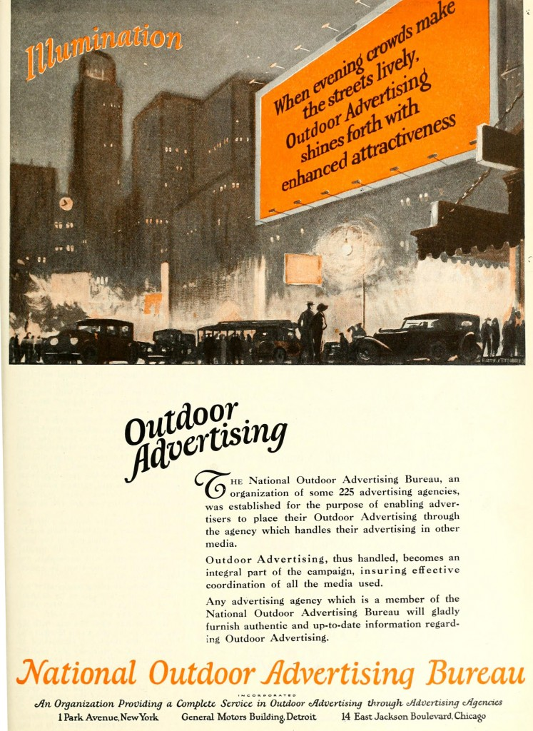 national outdoor advertising bureau 1920 campaigns. Black Bedroom Furniture Sets. Home Design Ideas