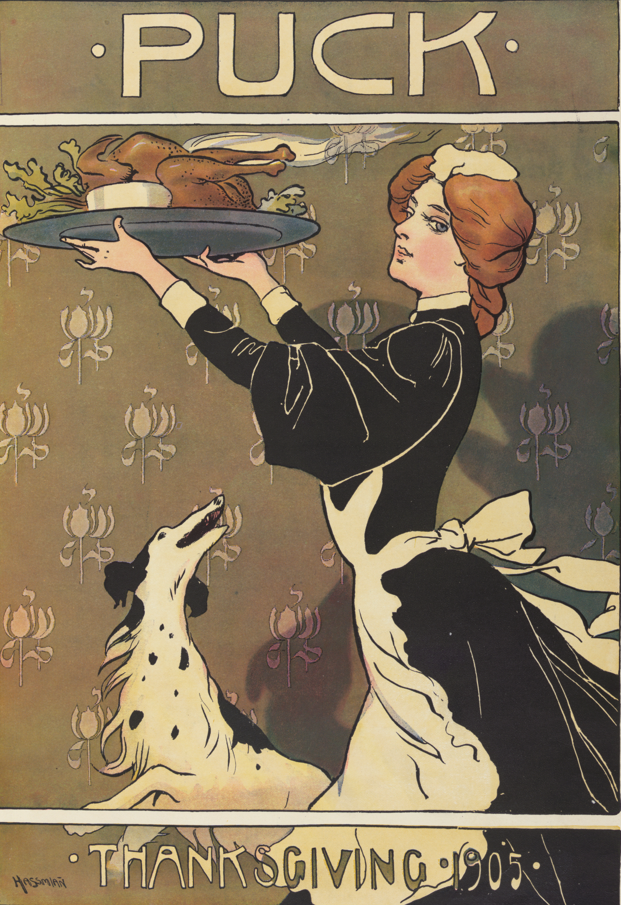 Puck Magazine Thanksgiving 1905 by Carl Hassmann