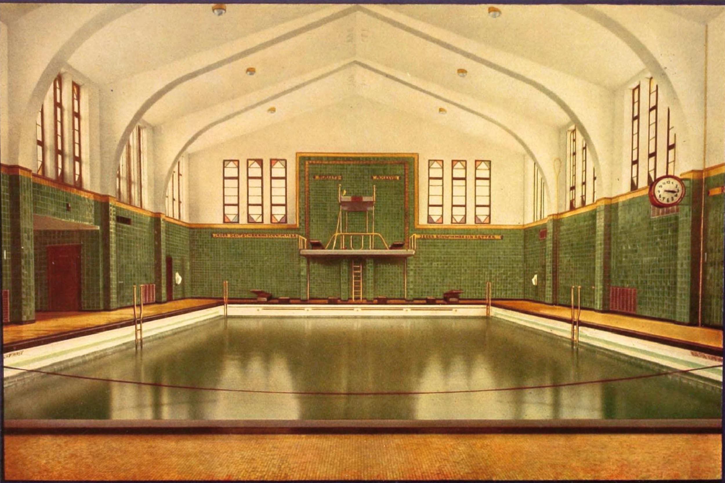villeroy boch bathhouse swimming pool design hansabad bremen circa 1929. Black Bedroom Furniture Sets. Home Design Ideas