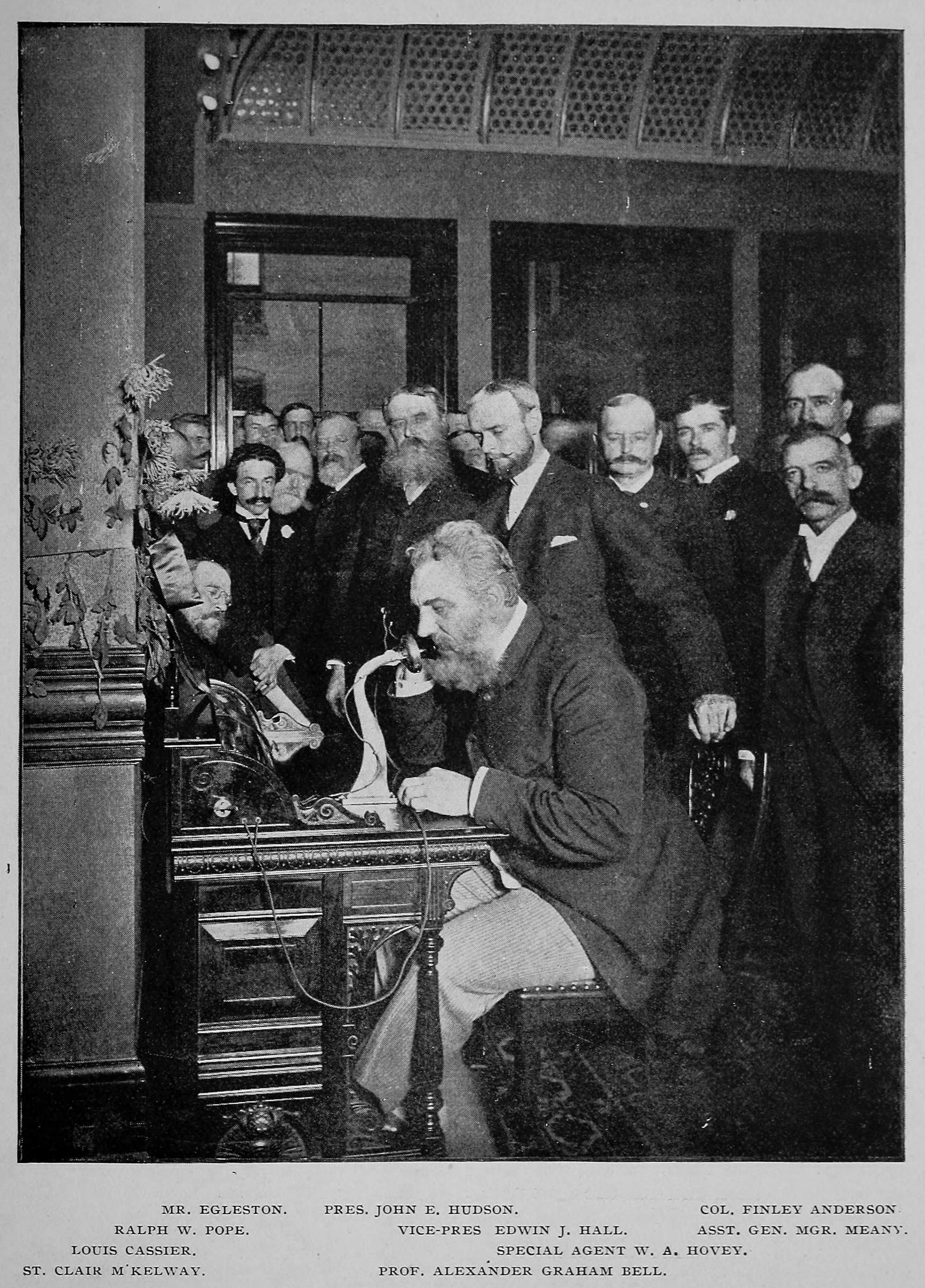 Photograph of Alexander Graham Bell - Historic Call To Chicago ...