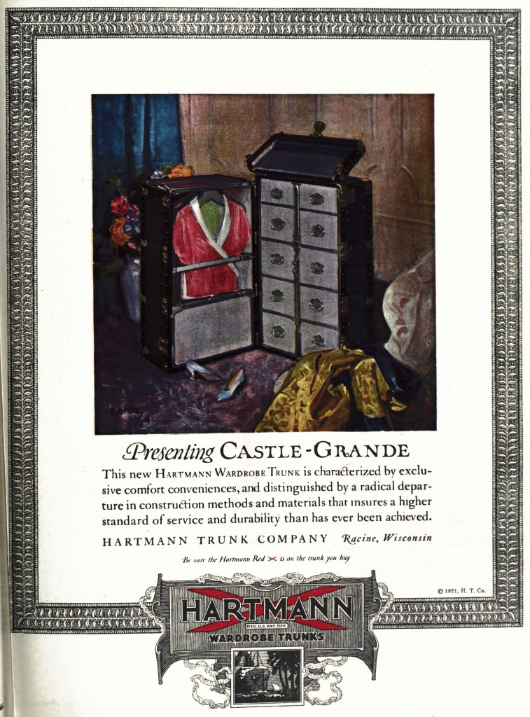Hartmann Trunk Co. Advertisement 1921