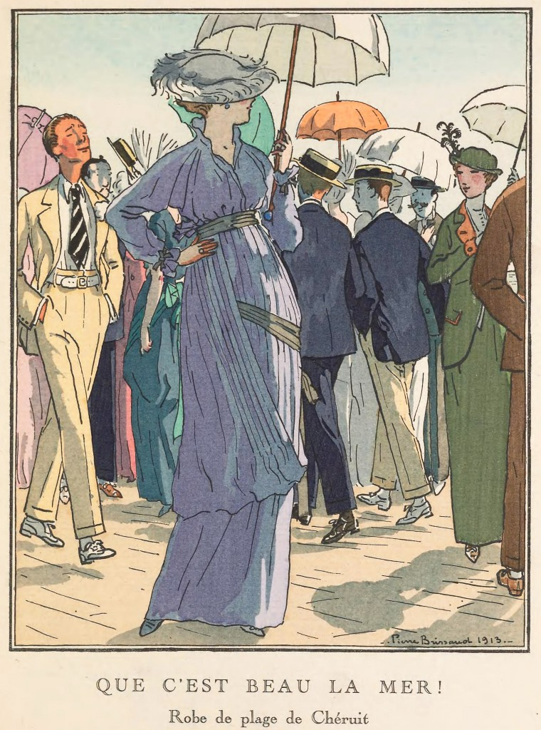 Madeleine Cheruit Fashion Illustration by Pierre Brissaud circa 1913
