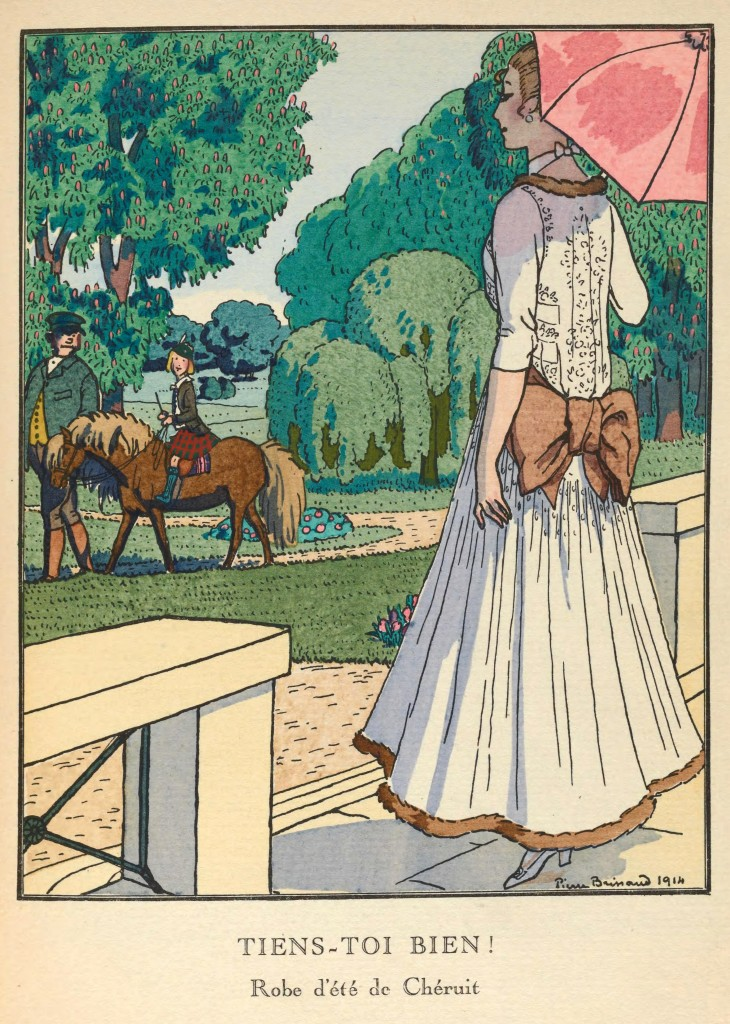 Madeleine Cheruit Fashion Illustration by Pierre Brissaud circa 1914