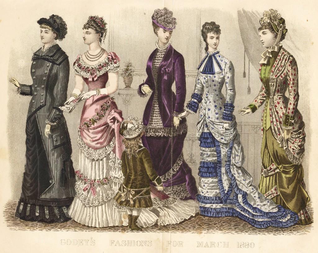 American Women's Fashion March 1880