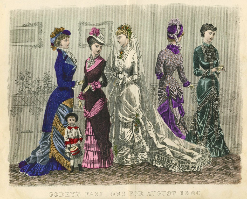 American Women's Fashion August 1880