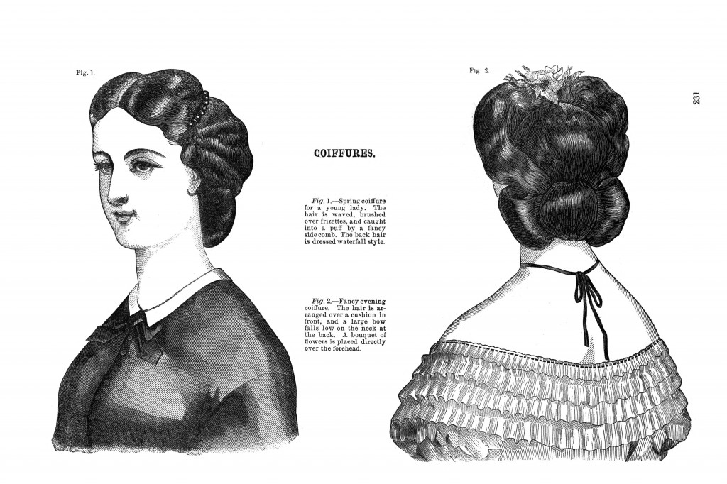 American Womens Hairstyles 1860 - Gothic Hairstyles