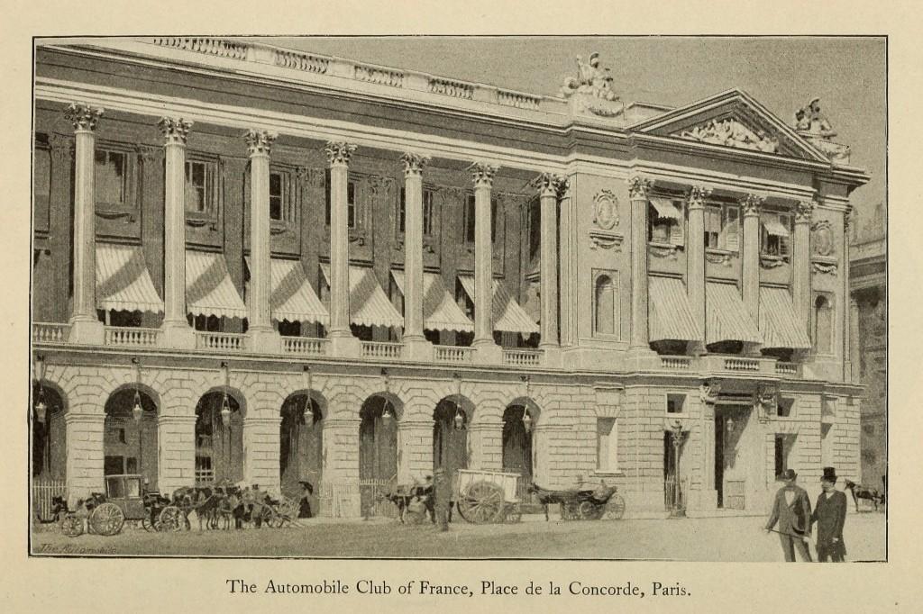 automobile club of france illustrations place de la concorde paris circa 1900. Black Bedroom Furniture Sets. Home Design Ideas