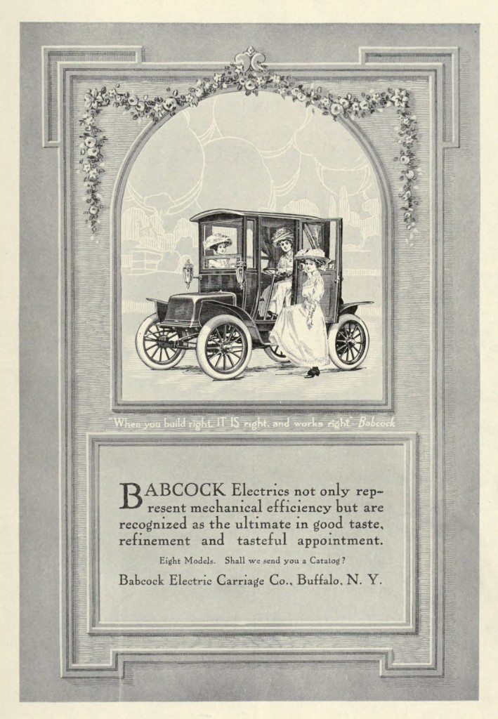 Babcock Electric Car Advertisement circa 1911