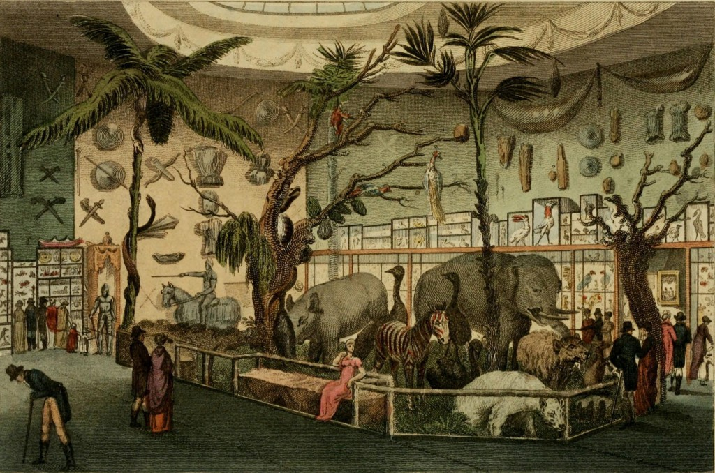 Bullock's Nature Museum at Piccadilly, London from Ackermann's Repository 1810