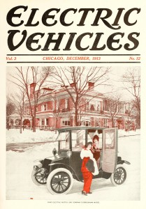 Electric Vehicles Magazine Cover December 1913