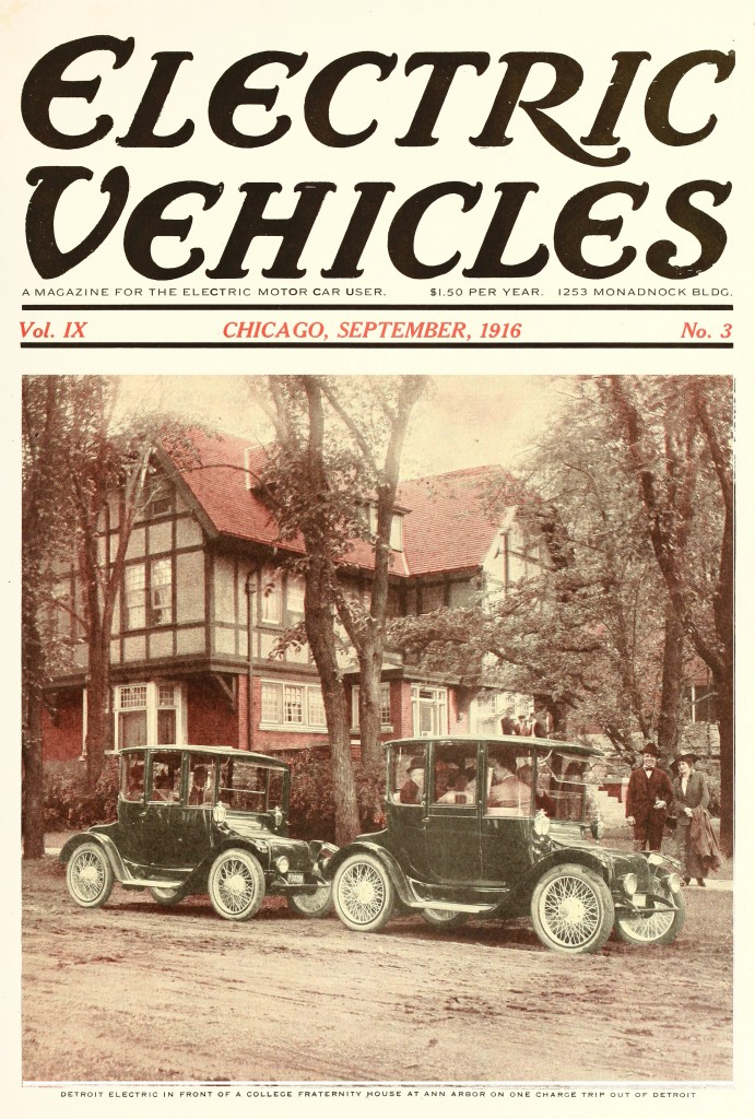 Electric Vehicles Magazine Covers 1916 Page 2