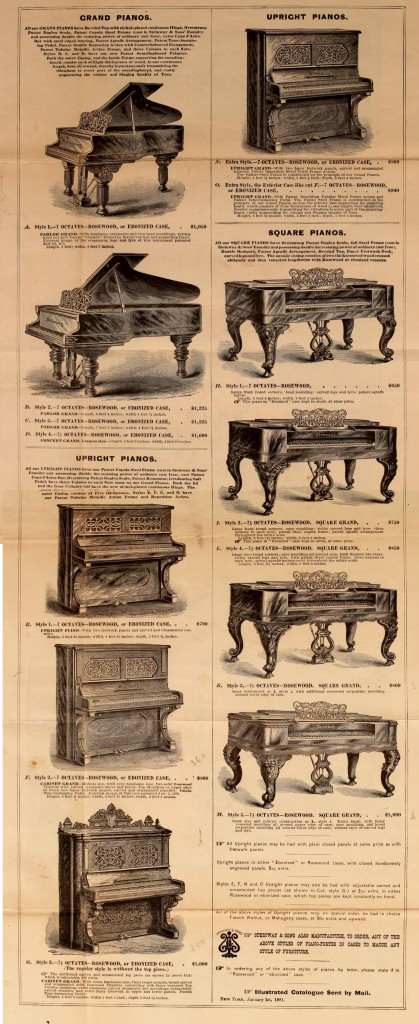 Illustration Of Steinway Sons Pianos