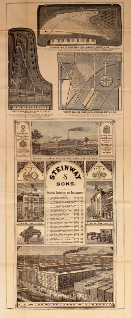 Illustration Of Steinway Sons Pianos And Factory Circa 1881