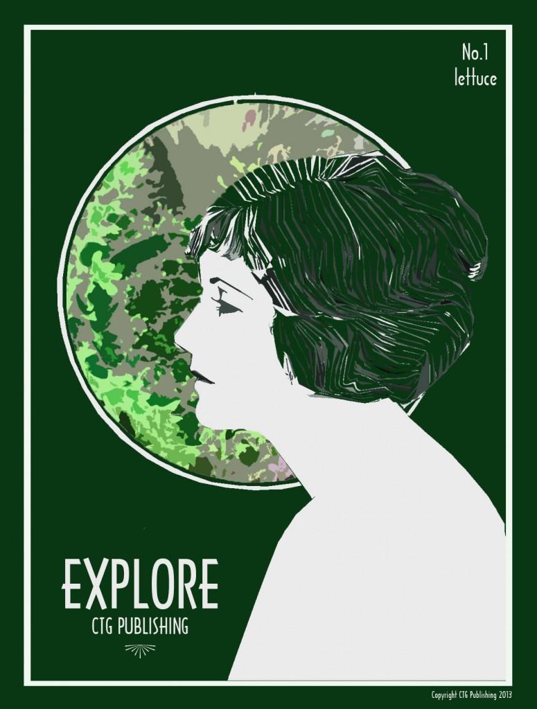 Green Lettuce - Explore Print No.1 by CTG Publishing