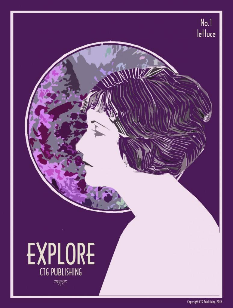 Purple Lettuce - Explore Print No.1 by CTG Publishing