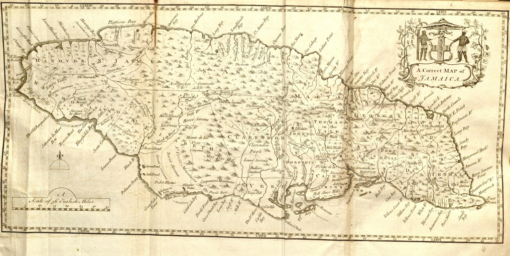 Old Maps Of Jamaica Circa 1750: Old Map Of Jamaica At Infoasik.co