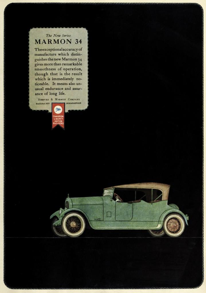 Marmon 34 Car Advertisement 1920