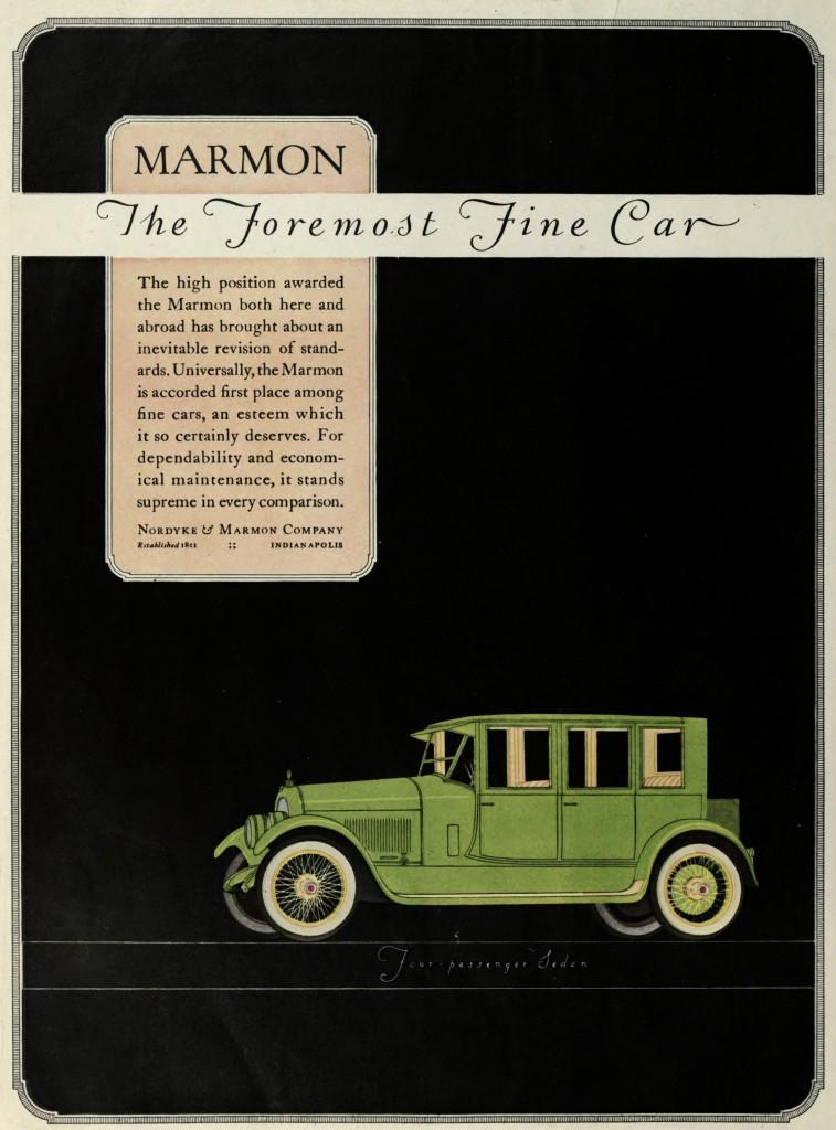 Marmon 34 Car Advertisement 1922