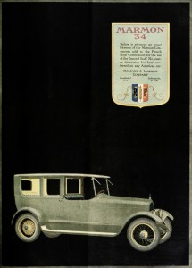 Marmon 34 Limousine Car - French High Comission Advertisement 1919
