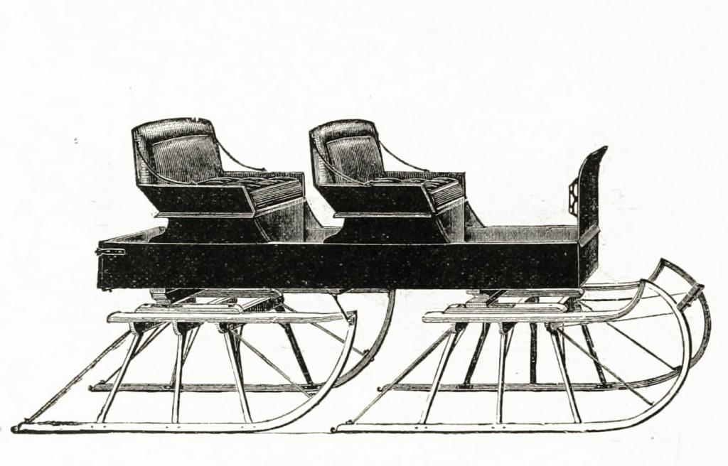 Northwestern Sleigh Co Platform Sleigh Model circa 1889