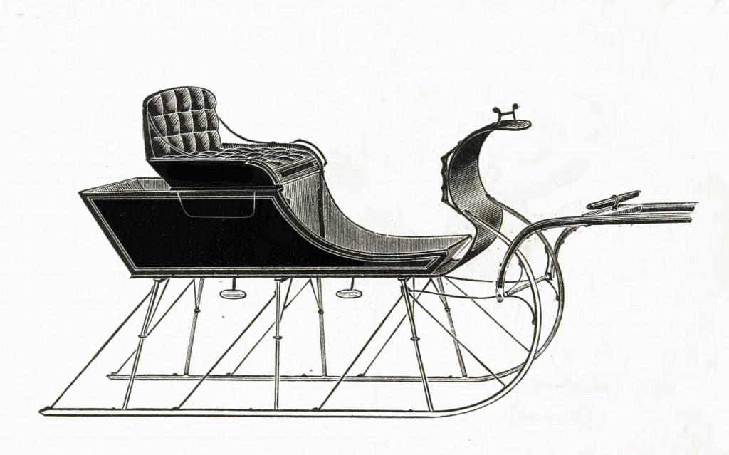 Northwestern Sleigh Co Shifting Seat Sleigh Model circa 1889