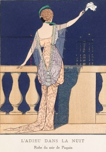 Paquin Dress - Illustration by A.E. Marty 1913