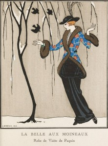 Paquin Dress - Illustration by George Barbier 1912