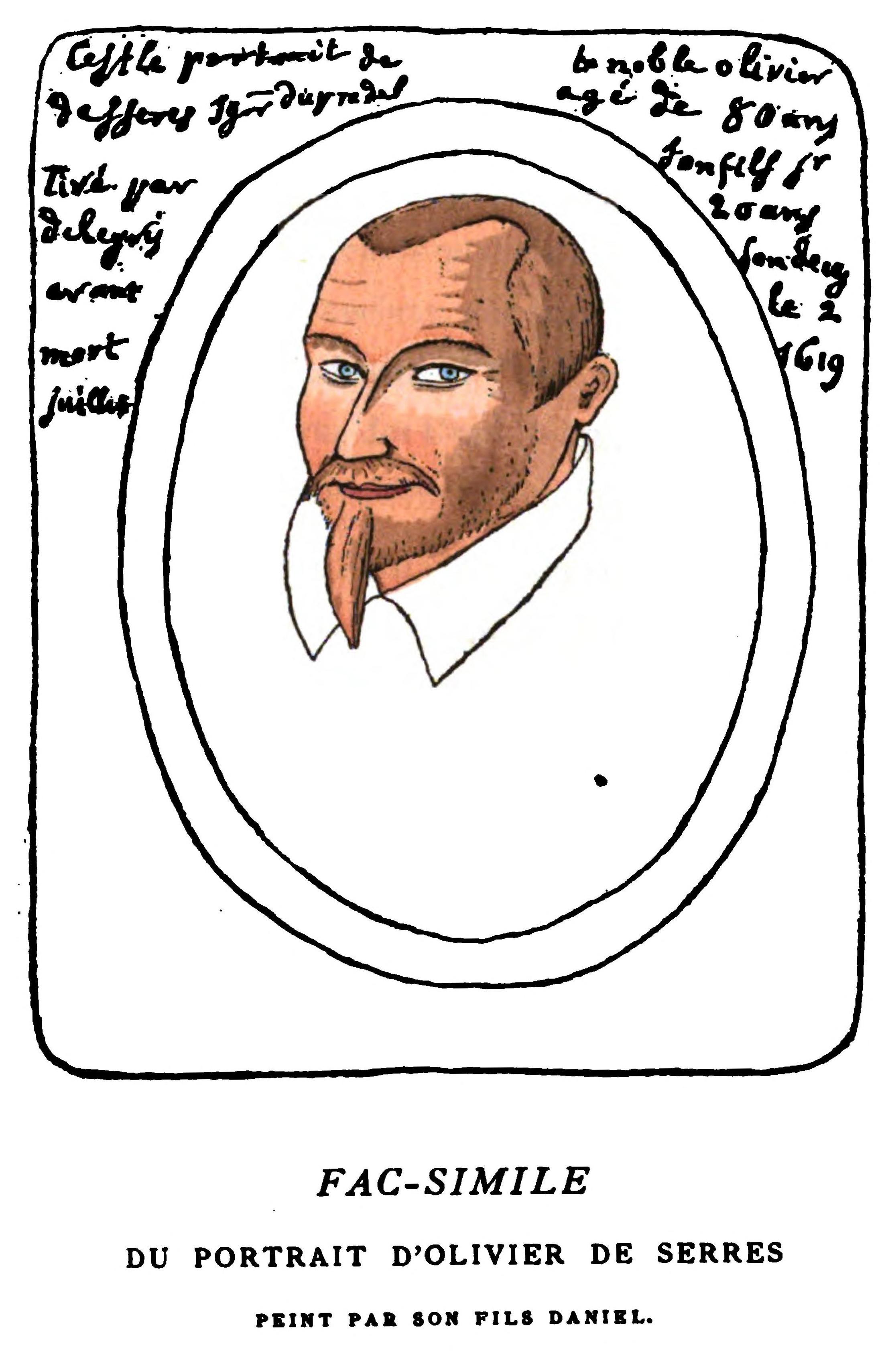 olivier de serres 1539 1619 portrait by his son daniel. Black Bedroom Furniture Sets. Home Design Ideas