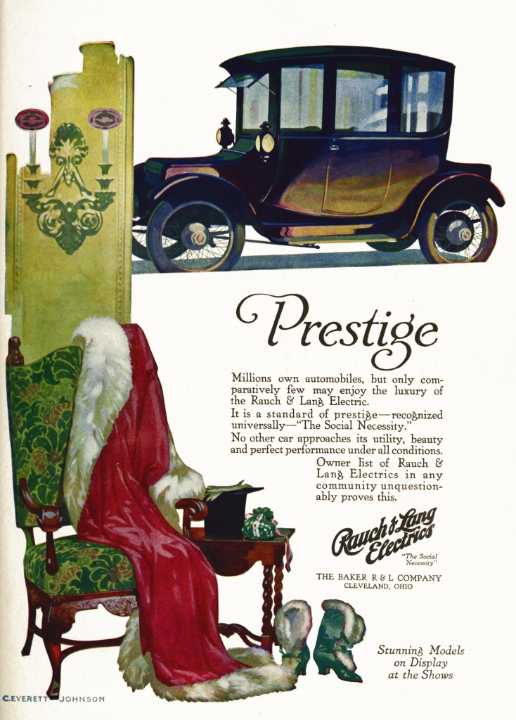 Rauch and Lang Electrics - Car Advertisement circa 1916